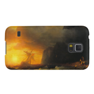 Shipwreck at Mount Athos Ivan Aivasovsky seascape Cases For Galaxy S5