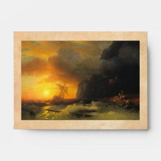 Shipwreck at Mount Athos Ivan Aivasovsky seascape Envelopes
