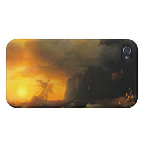 Shipwreck at Mount Athos Ivan Aivasovsky seascape Case For iPhone 4