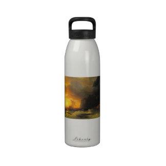 Shipwreck at Mount Athos Ivan Aivasovsky seascape Drinking Bottles