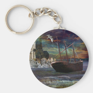 Shipwreck at pixie cove keychain