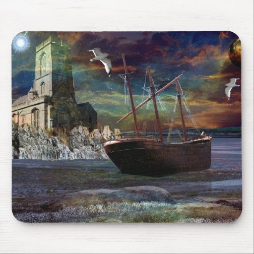 Shipwreck at Pixie Cove Mouse Mat