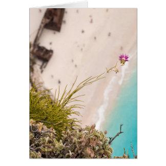 Shipwreck beach card