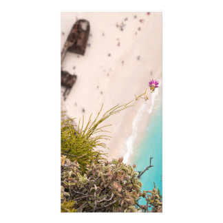 Shipwreck beach personalized photo card
