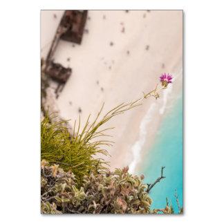 Shipwreck beach table cards