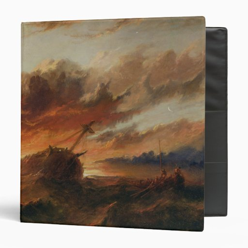 Shipwreck, c.1850 (oil on canvas) binder