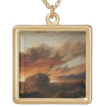 Shipwreck, c.1850 (oil on canvas) custom necklace