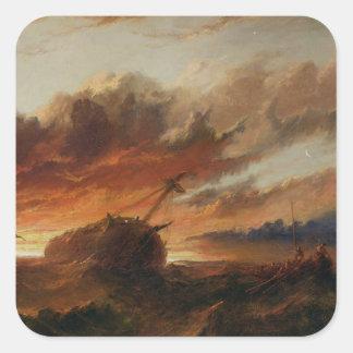 Shipwreck, c.1850 (oil on canvas) square sticker