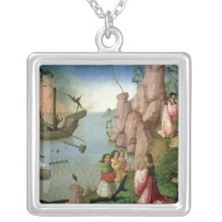 Shipwreck caused by Demons Silver Plated Necklace