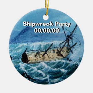 Shipwreck Ceramic Ornament