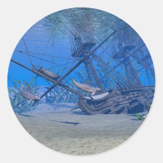Shipwreck Classic Round Sticker