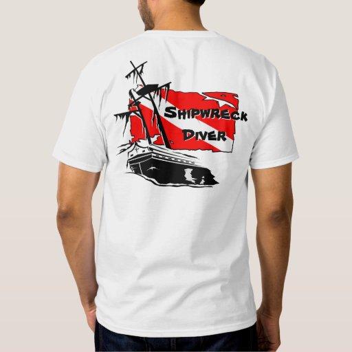 Shipwreck Diver Tee Shirts