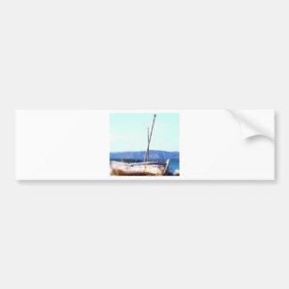 Shipwreck in  Croatia Bumper Sticker