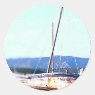 Shipwreck in  Croatia Classic Round Sticker