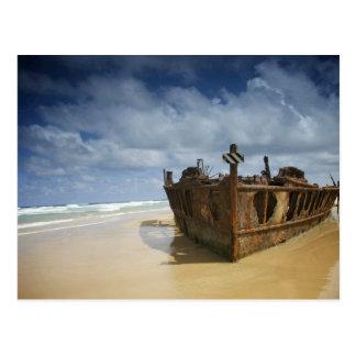 Shipwreck of S.S. Maheno, Fraser Island, Australia Postcard