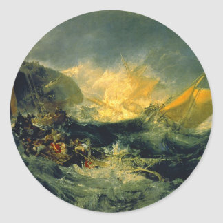 Shipwreck of the Minotaur Classic Round Sticker
