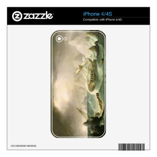 Shipwreck off a Rocky Coast (oil on canvas) Decals For The iPhone 4S