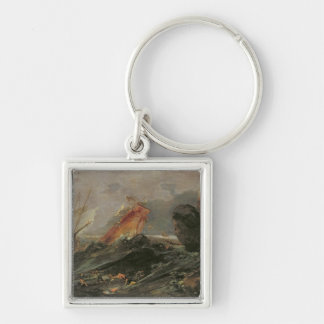 Shipwreck on a Rocky Shore, c.1645-50 Keychain