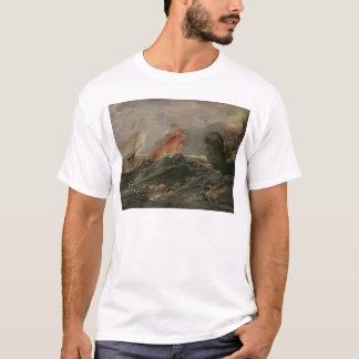 Shipwreck on a Rocky Shore, c.1645-50 T-Shirt