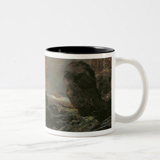 Shipwreck on a Rocky Shore, c.1645-50 Two-Tone Coffee Mug