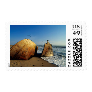 Shipwreck On Beach, Skeleton Coast, Namibia Postage Stamp