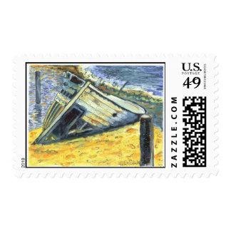 Shipwreck On Laguna Madre II Stamp