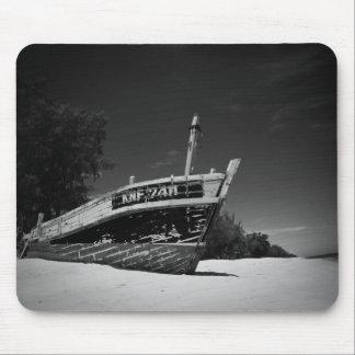 Shipwreck On The Beach (FreeWallpaperBlog.com) Mouse Pad
