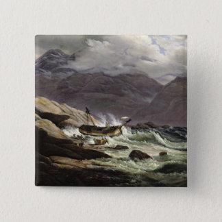 Shipwreck on the Norwegian Coast, 1831 Button