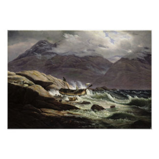Shipwreck on the Norwegian Coast, 1831 Poster