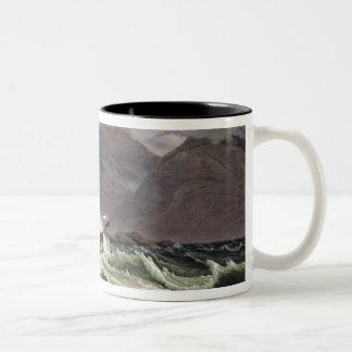 Shipwreck on the Norwegian Coast, 1831 Two-Tone Coffee Mug