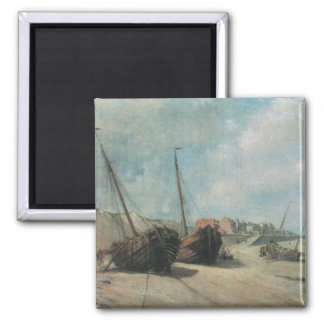 Shipwreck Painting 2 Inch Square Magnet