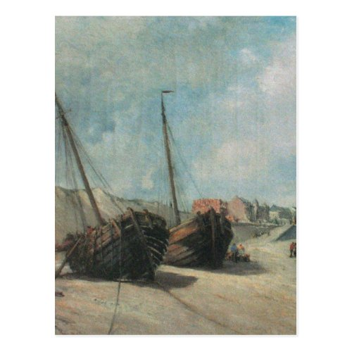 Shipwreck Painting Postcard