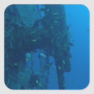 Shipwreck Square Sticker