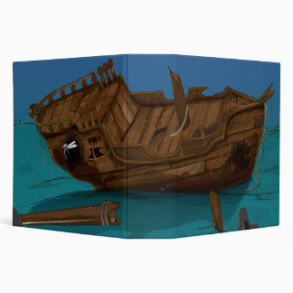 Shipwreck underwater 3 ring binder
