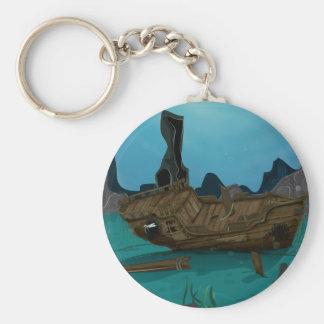 Shipwreck underwater keychain