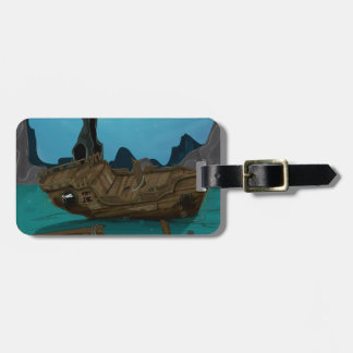 Shipwreck underwater luggage tags