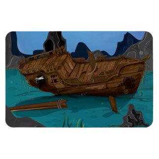 Shipwreck underwater rectangular photo magnet
