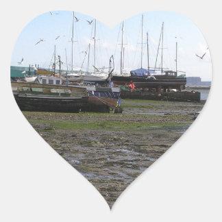 shipwrecked boats heart sticker