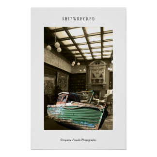 Shipwrecked Surreal Poster Print