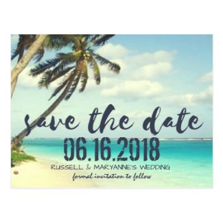 Shipwrecked Wedding Save the Date Postcard