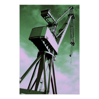 Shipyard Crane Poster/Print