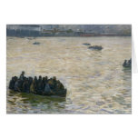 Shipyard Workers Returning Home on the Elbe Greeting Cards