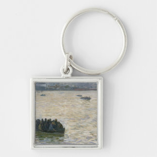 Shipyard Workers Returning Home on the Elbe Keychain