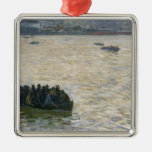 Shipyard Workers Returning Home on the Elbe Christmas Tree Ornament