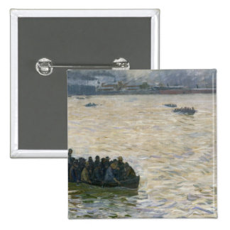 Shipyard Workers Returning Home on the Elbe Pinback Button