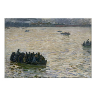 Shipyard Workers Returning Home on the Elbe Print