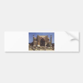 Shir Dor madrasah in Registan Square in Samarkand Bumper Sticker
