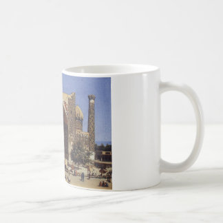 Shir Dor madrasah in Registan Square in Samarkand Coffee Mug