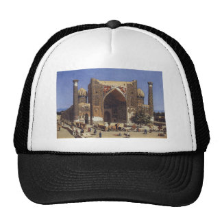 Shir Dor madrasah in Registan Square in Samarkand Trucker Hat