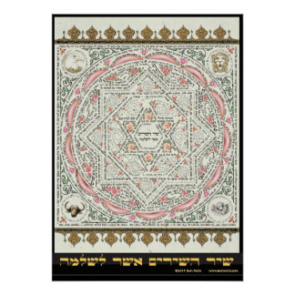 Shir ha Shirim [canción de Solomon] en micrografía Póster